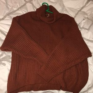 Free People oversized turtleneck sweater